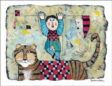 Riding the Tiger Art Print
