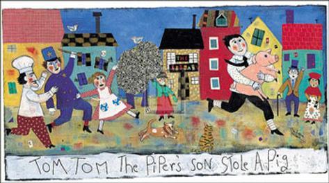 Tom, Tom, the Piper's Son Framed Art Print
