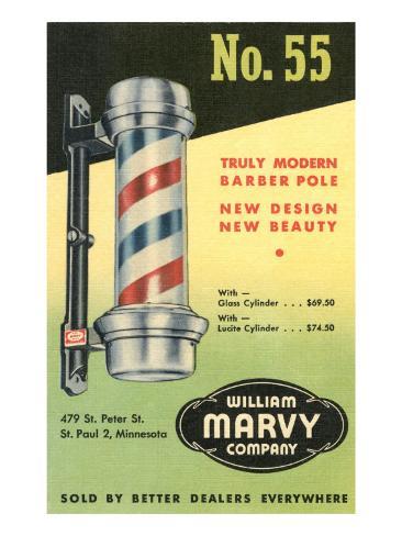 Barber Pole Advetisement Art Print