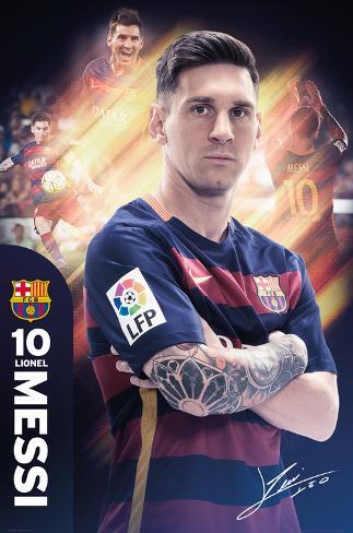 Barcelona- Messi 15/16 Pôster
