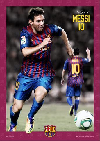 Barcelona Messi-2011-2012 3D-poster