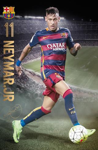 Barcelona- Neymar Action 15/16 Pôster