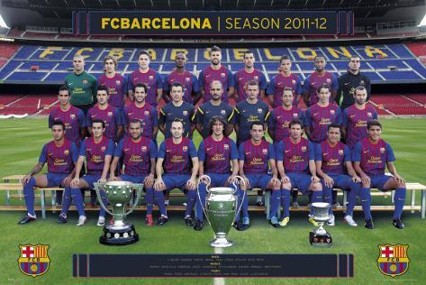 Barcelona-Team Photo-2011-2012 Poster