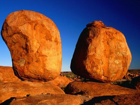 Group of Rounded Granite Boulders, Part of Devil's Marbles, Northern Territory, Australia Photographic Print