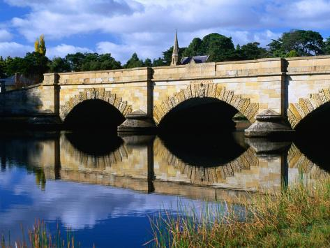 Ross Bridge Over Macquarie River Ross, Tasmania, Australia Photographic Print