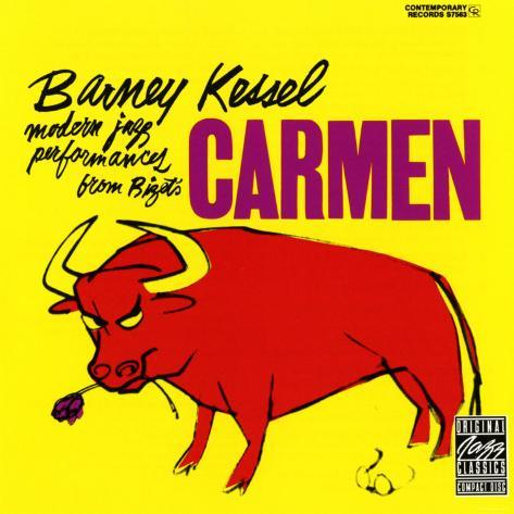 Barney Kessel, Japanese release of the Carmen Album Art Print