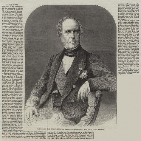 Baron Gros, the Newly-Appointed French Ambassador at the Court of St James'S Giclee Print