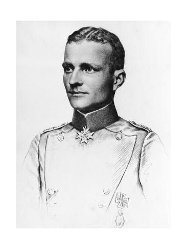 Baron Manfred Von Richthofen, Red Baron Stampa giclée