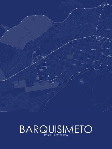 Barquisimeto Venezuela Bolivarian Republic of Blue Map Poster at