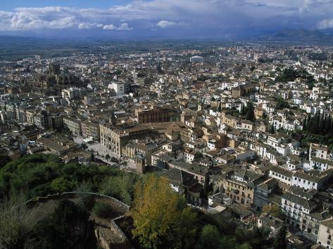 Granada from the Alhambra, Spain Photographic Print