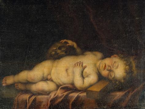 Christ Child Asleep on the Cross Lámina giclée
