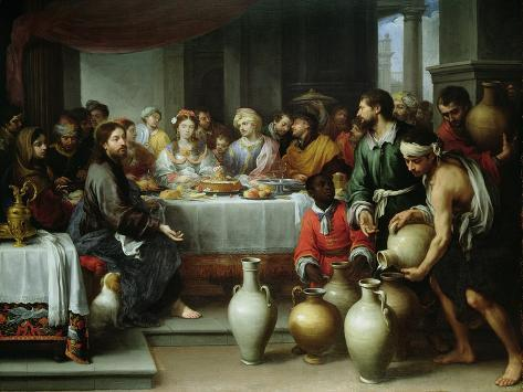 The Marriage Feast at Cana, C.1665-75 Giclée-vedos