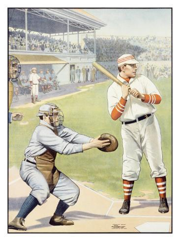Baseball at the Plate, Batter Up! Giclee Print