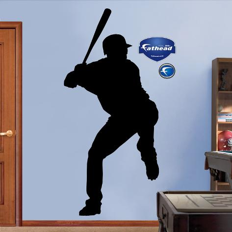 Baseball Player Silhouettes Wall Decal