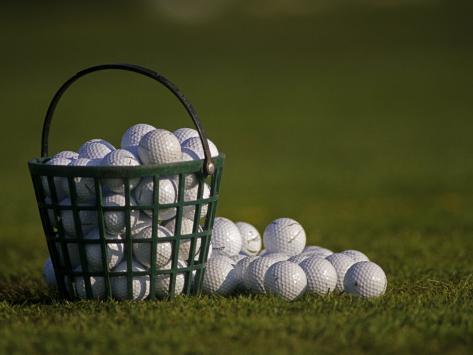 Basket of Golf Balls Photographic Print