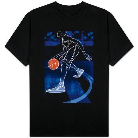 Basketball Player on Blue T-Shirt