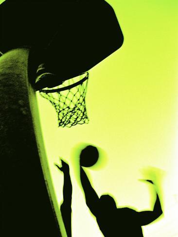 Basketball Silhouette Photographic Print
