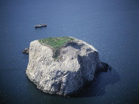 Bass Rock Stretched Canvas Print