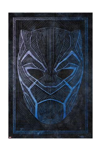 Batik Black Panther Art Print