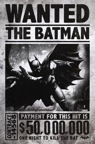batman arkham origins wanted posters at. Black Bedroom Furniture Sets. Home Design Ideas