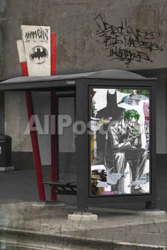 Batman Comics Graffiti Art Featuring Joker Prints At Allposters Com
