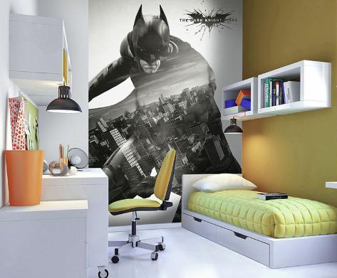 Batman deco wall mural wallpaper mural for Art deco wallpaper mural
