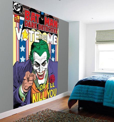 Batman joker wall mural wallpaper mural for Batman mural wallpaper uk