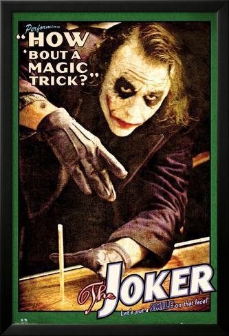 Batman: The Dark Knight - Joker Magic Trick Lamina Framed Poster