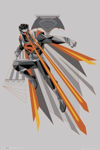 Batman Vs. Superman - Fire In Flight Poster