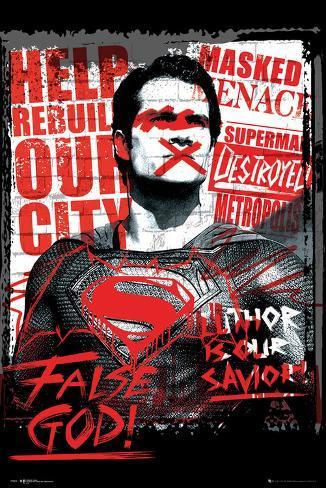 Batman vs. Superman- Superman False God Poster