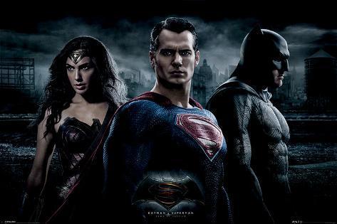 Batman vs. Superman- Trinity Photo Poster