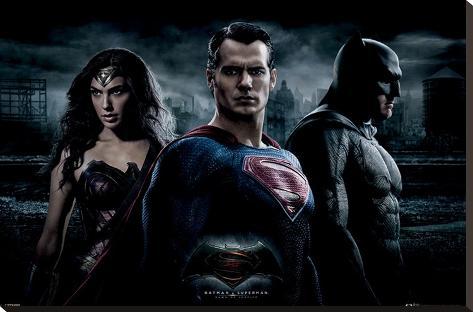Batman vs. Superman- Trinity Photo Stretched Canvas Print