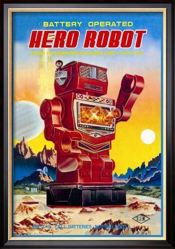 Battery Operated Hero Robot Framed Art Print