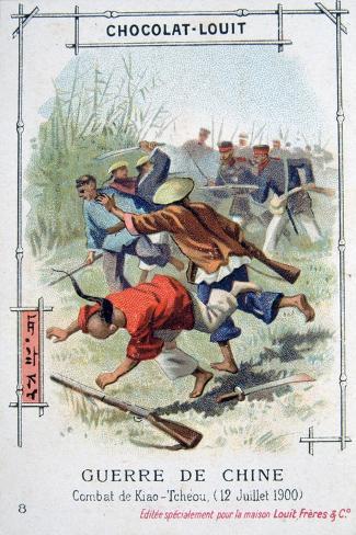 Battle at Kiao-Tcheou, China, Boxer Rebellion, 12 July 1900 Giclee Print
