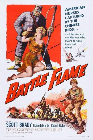 Battle Flame, Bottom Right: Scott Brady, 1959 Art Print