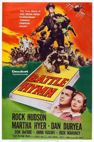 Battle Hymn, Bottom from Left: Rock Hudson, Martha Hyer, 1957 Art Print