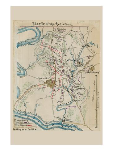 Battle of Antietam or Sharpsburg No.1 Art Print