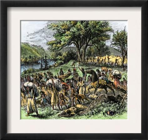 Battle of Bad Axe in Wisconsin, Ending the Black Hawk War, c.1832 Framed Art Print