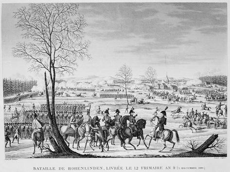 Battle of Hohenlinden, December 1800 Giclee Print