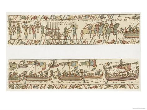 Bayeux Tapestry: Weapons and Wine are Put Giclee Print