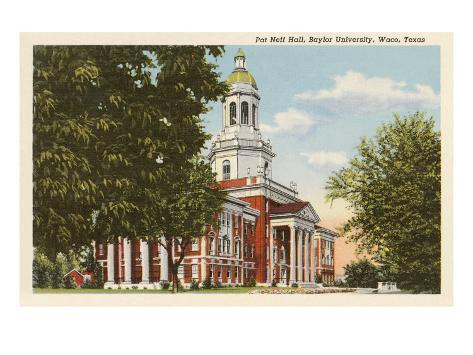 Baylor University, Waco, Texas Art Print