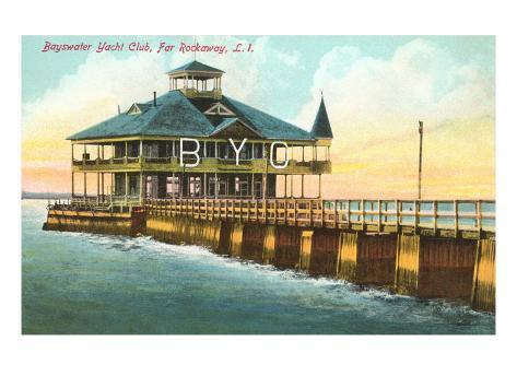 Bayswater Yacht Club, Far Rockaway, Long Island, New York Stretched Canvas Print