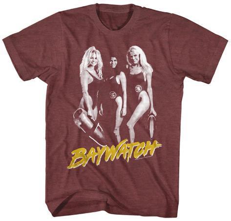 Baywatch- 3 Hot Babes T-Shirt