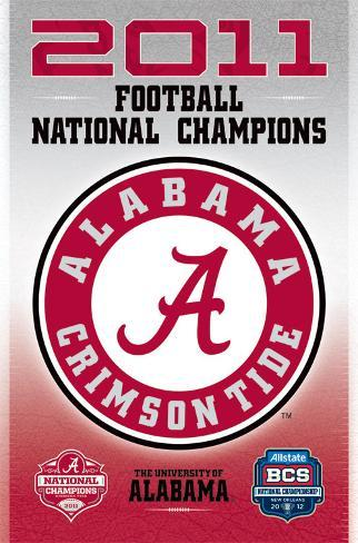 BCS National Champion 2011 Poster