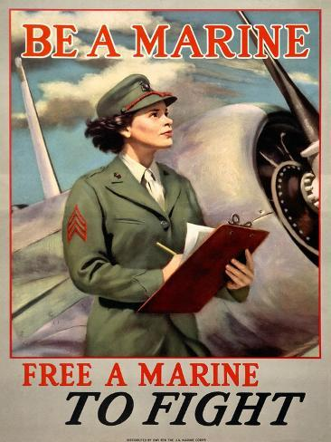 Be a Marine/Free a Marine to Fight Giclee Print