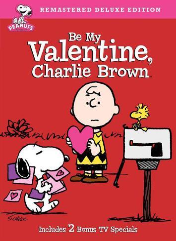 Be My Valentine Charlie Brown Masterprint