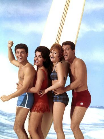 Beach Blanket Bingo, Frankie Avalon, Annette Funicello, Deborah Walley, John Ashley, 1965 Fotografía