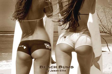 Beach Bums - by Jason Ellis Poster