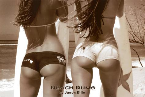 Beach Bums - Girls On Beach Poster