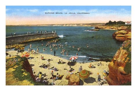 Beach, Cove, La Jolla, California Art Print